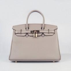 Hermes Birkin 30cm Togo leather Handbags grey gold