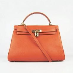 Hermes Kelly 32cm Togo leather 6108 orange golden