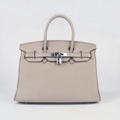 Hermes Birkin 30cm Togo leather Handbags grey silver