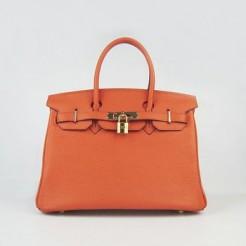Hermes Birkin 30cm Togo leather Handbags orange gold