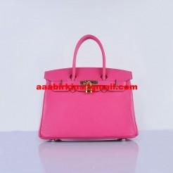 Hermes Birkin 30cm Togo Leather Handbags Rose Golden