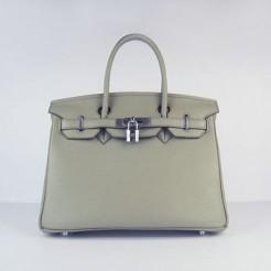 Hermes Birkin 30cm Togo leather Handbags dark grey silver