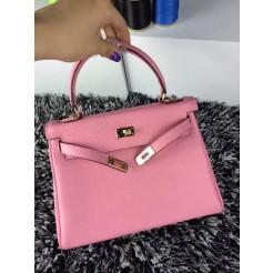 Hermes Kelly 25cm Togo Leather Pink Gold