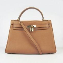 Hermes Kelly 32cm Togo leather 6108 light coffee golden