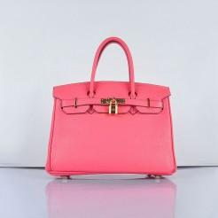 Hermes Birkin 30cm Togo leather Handbags Lip Pink Golden